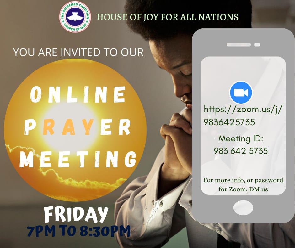 Friday weekly prayer meeting @ online on zoom
